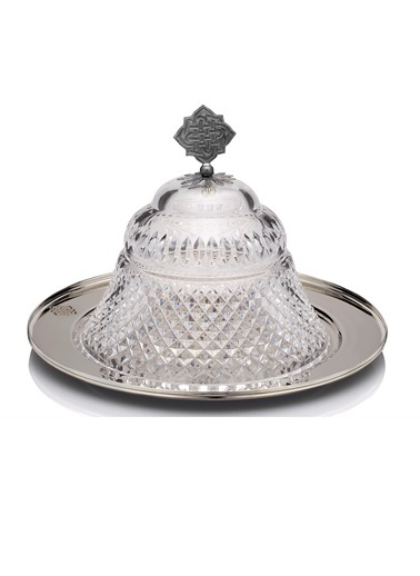Kristal Piramit Gümüş Sahan-Decoristan